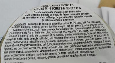 Céréales et lentilles - Ingrédients - fr