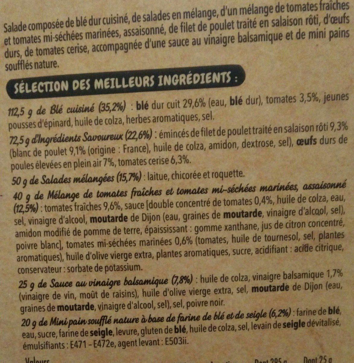 Salade Mezze Poulet Oeuf, 320g - Ingrédients - fr