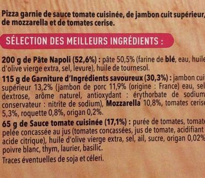 Pizza del gusto - Ingrediënten - fr