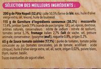 Pizza del Gusto - jambon speck - Ingredients - fr