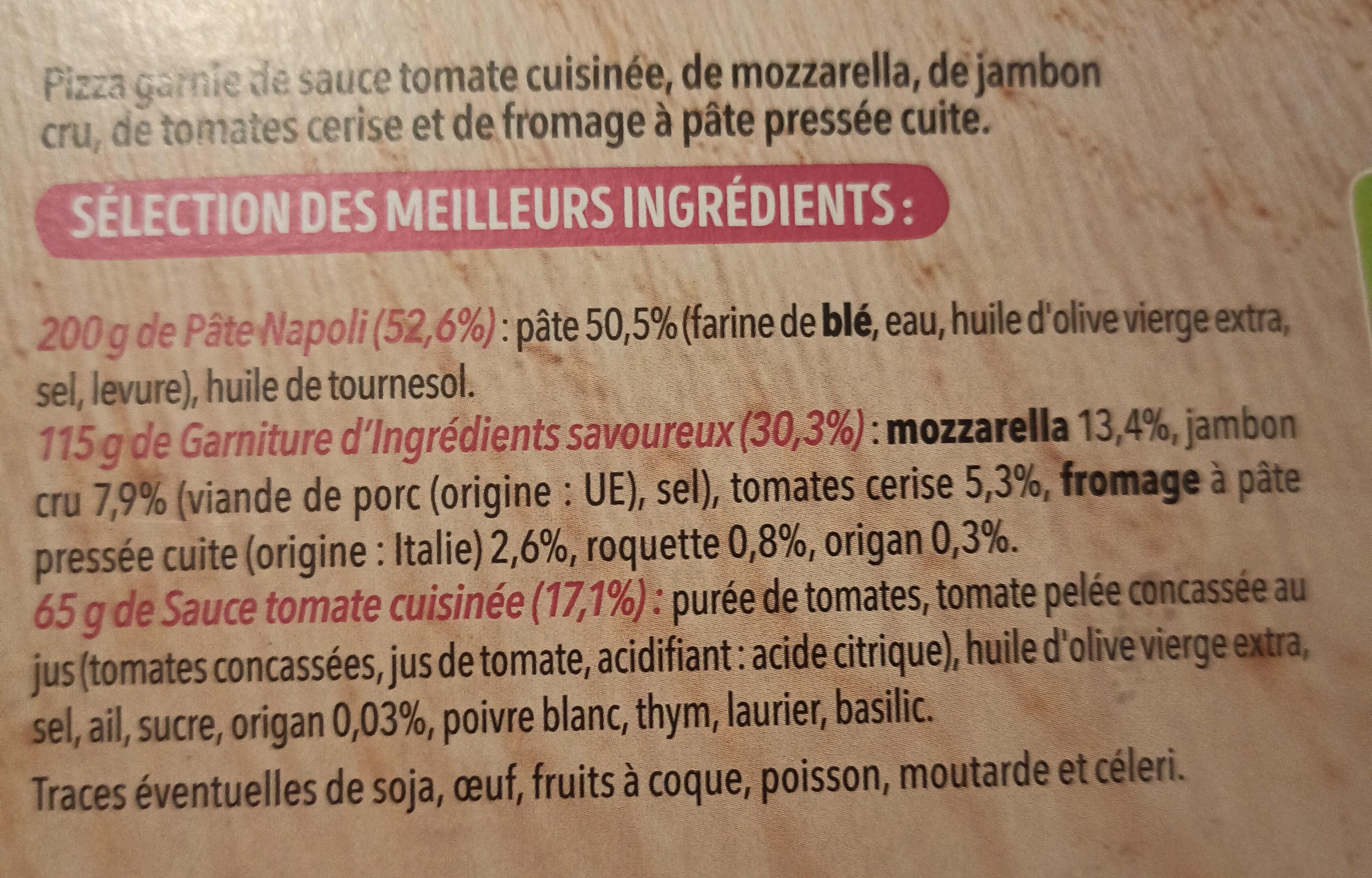 Pizza del gusto - Ingrédients - fr