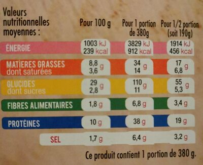 Pizza del Gusto - jambon speck - Nutrition facts - fr