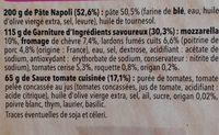 Pizza del gusto Chèvre Lardons - Ingrédients - fr