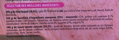 Pizza del Gusto! Jambon supérieur, Mozzarella, Tomates cerises - Ingrédients - fr
