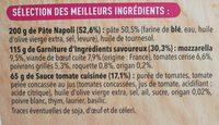 Pizza del Gusto Bœuf Poivrons - Ingrédients - fr