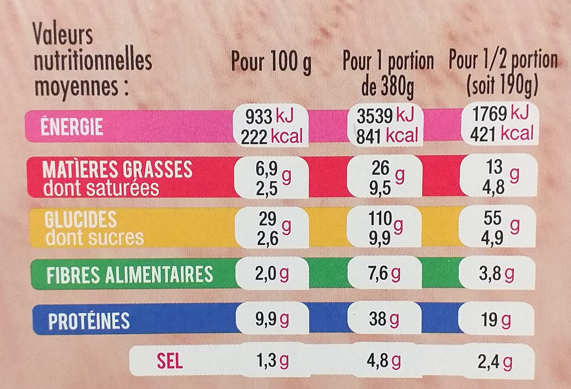 Pizza del Gusto Bœuf Poivrons - Informations nutritionnelles - fr