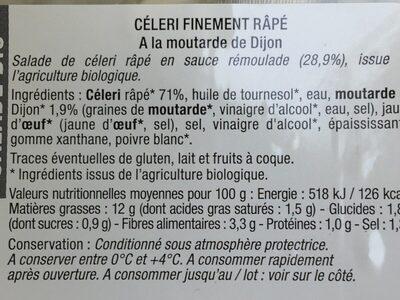 Celeri finement rapé à la moutarde de Dijon - Ingredients - fr