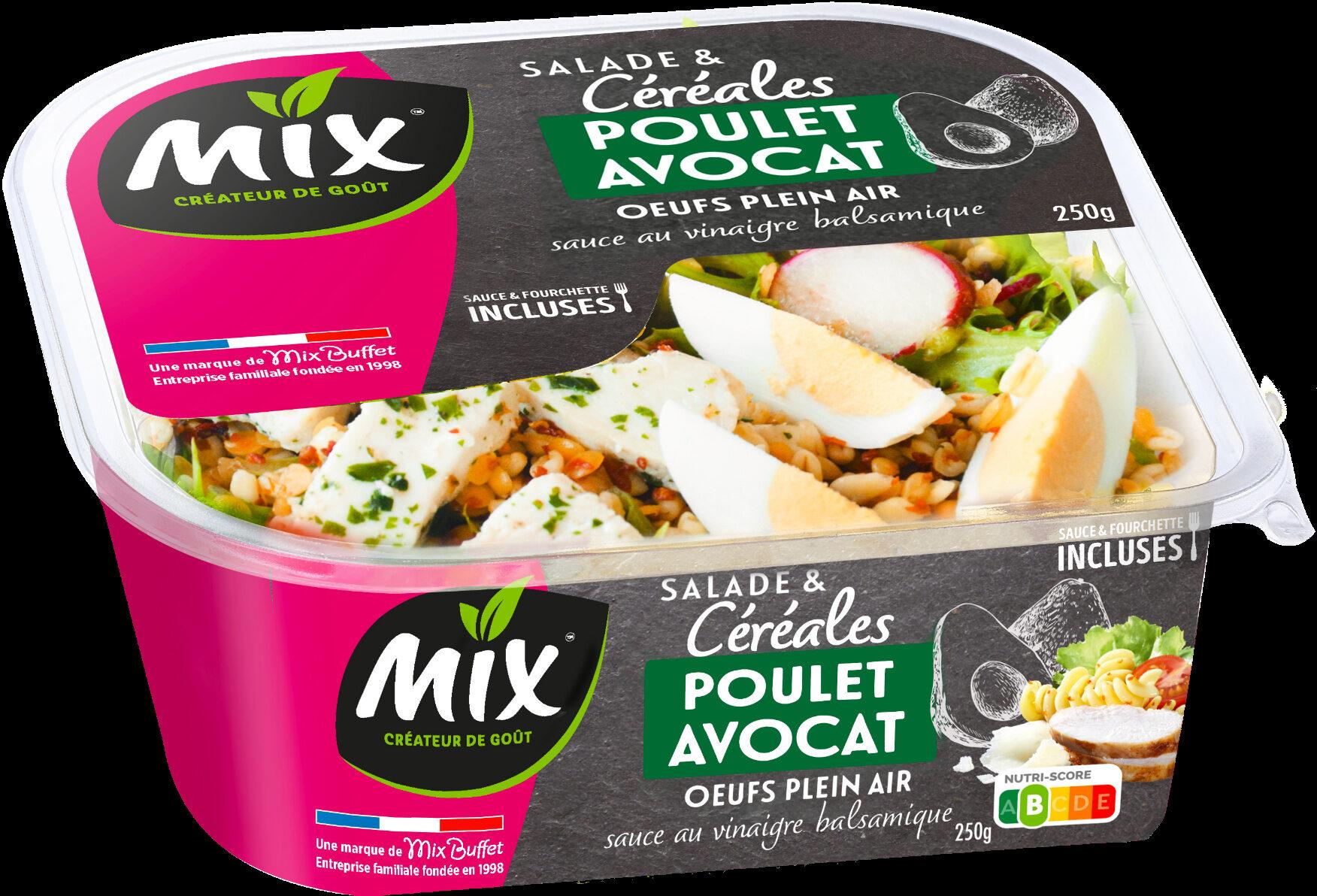 Salade et céréales poulet avocat - Produit