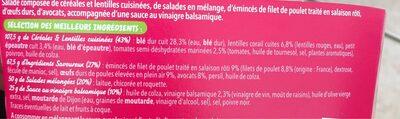 Salade et céréales poulet avocat - Ingrédients