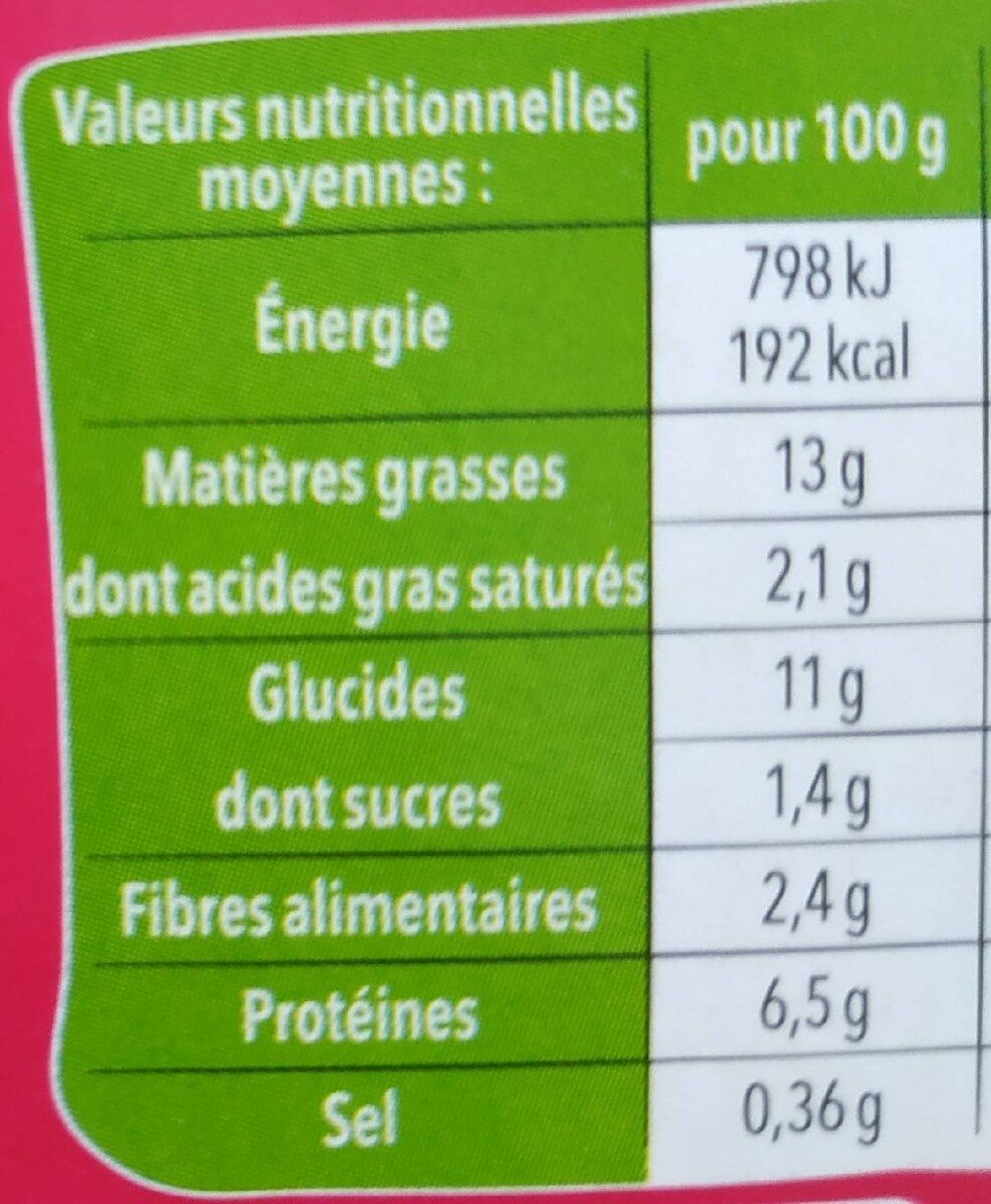 Salade et céréales poulet avocat - Voedingswaarden - fr