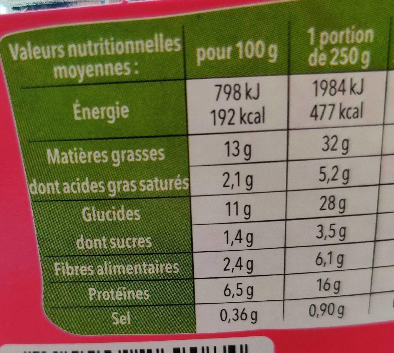 Salade et céréales poulet avocat - Informations nutritionnelles - fr
