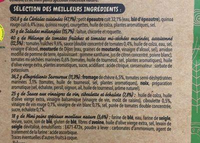 Salade mezze chèvre - Ingredients