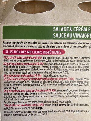 Salade Coffret Poulet Avocat MIX - Ingrédients - fr