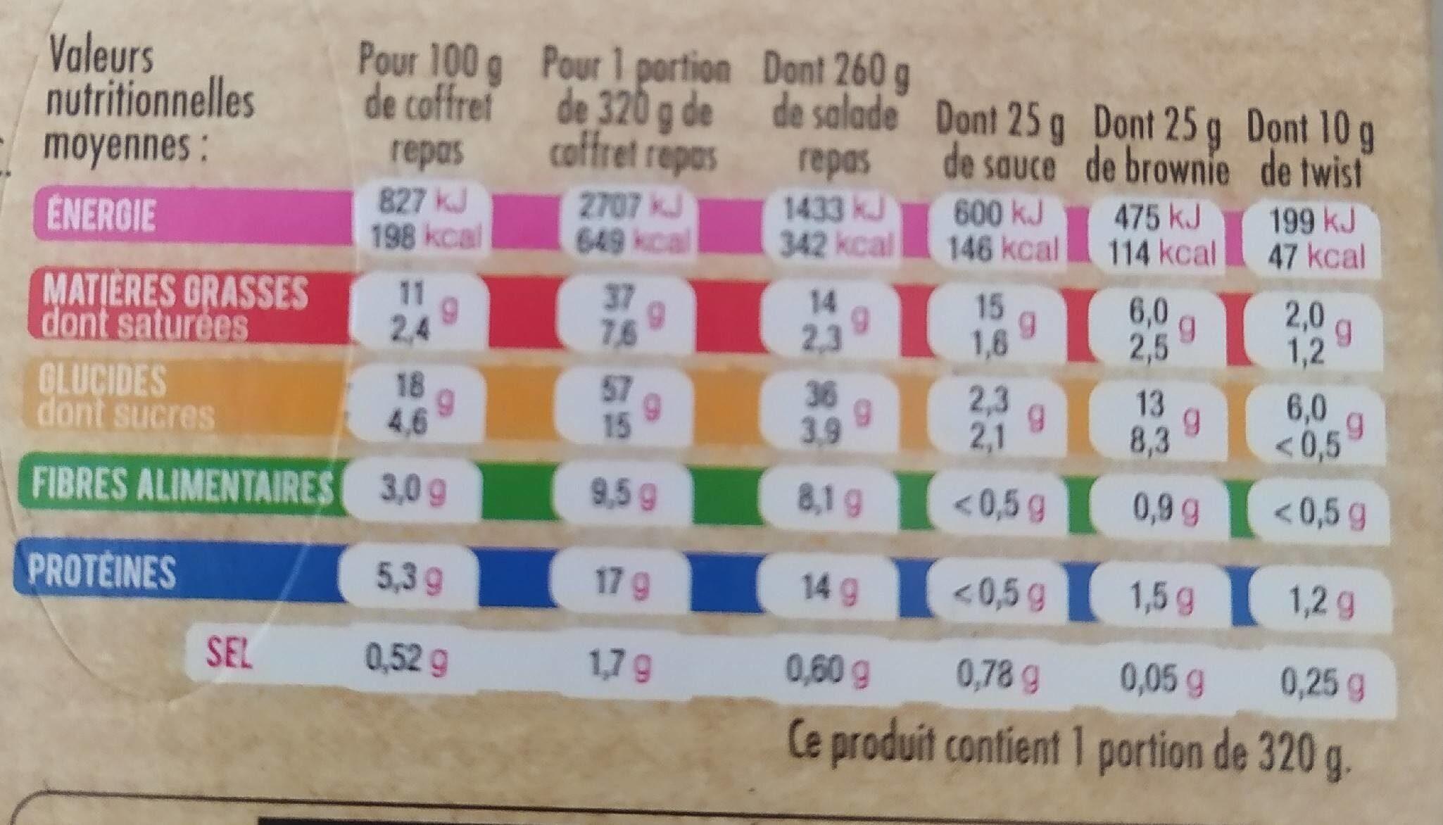 Salade et céréales - Voedingswaarden - fr