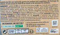 Côté Wrap jambon-chèvre - Ingrédients - fr