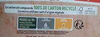 Pizza del Gusto - mozzarella tomates - Instruction de recyclage et/ou informations d'emballage - fr