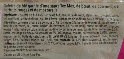 Hot wrap mexicaine - Ingrediënten - fr