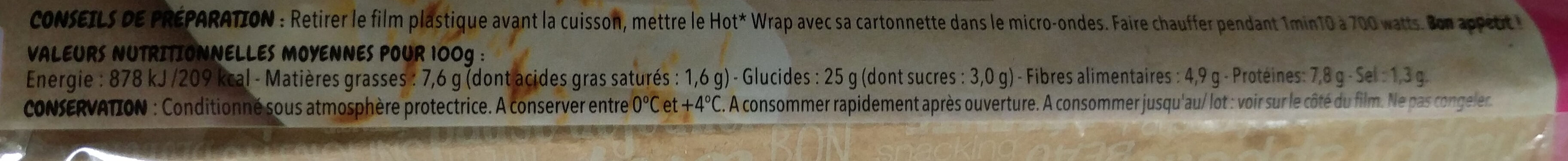 Hot wrap mexicaine - Voedingswaarden - fr