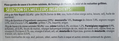 Pizza del Gusto Chèvre Miel Noisette - Ingrédients - fr