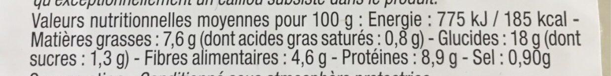 Duo de lentilles - Voedingswaarden - fr