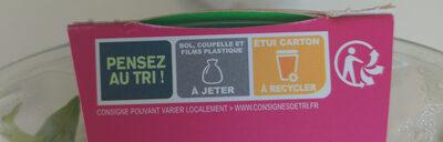 Green Bowl Chèvre - Recyclinginstructies en / of verpakkingsinformatie - fr