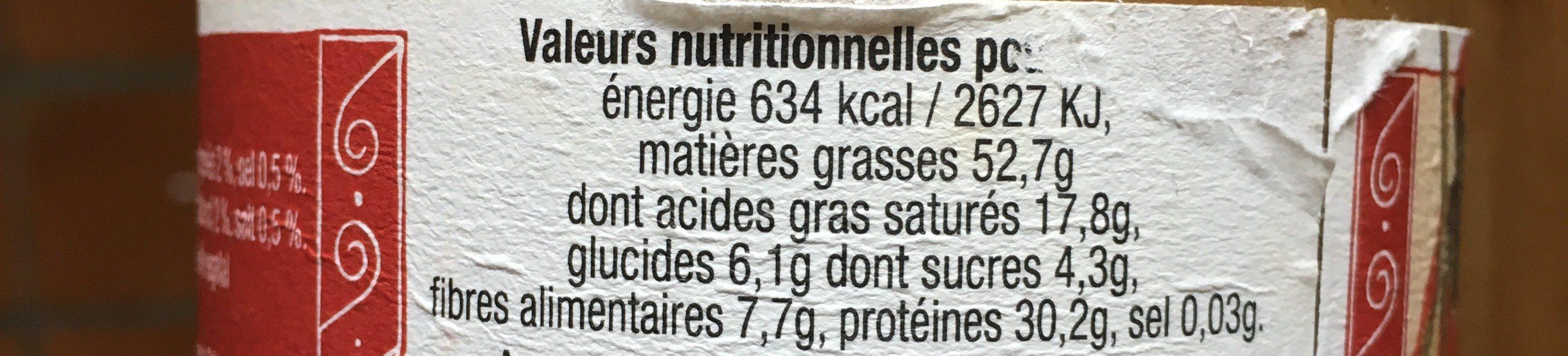 Pâte d'arachide - Informations nutritionnelles - fr