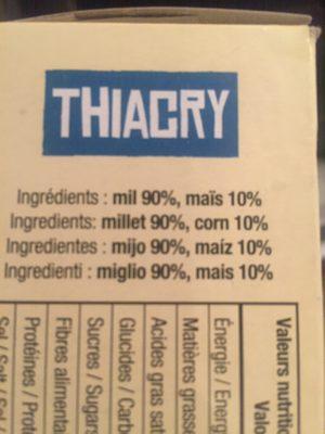 Thiacry - Ingrédients - fr