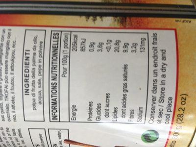 Sauce graine - Ingredients