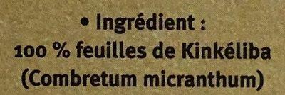 Kinkéliba - Ingredients - fr