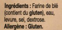 Pita - Ingrédients
