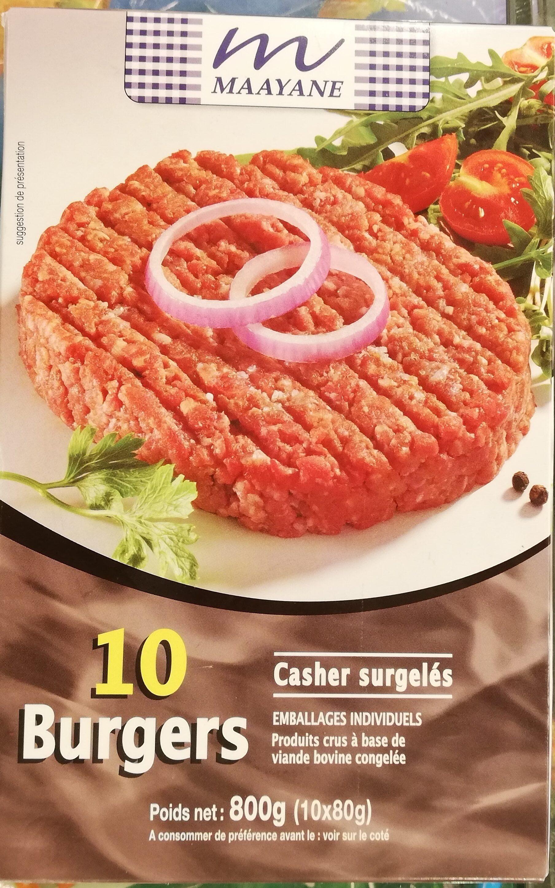 10 Burgers Casher Surgelés - Prodotto - fr
