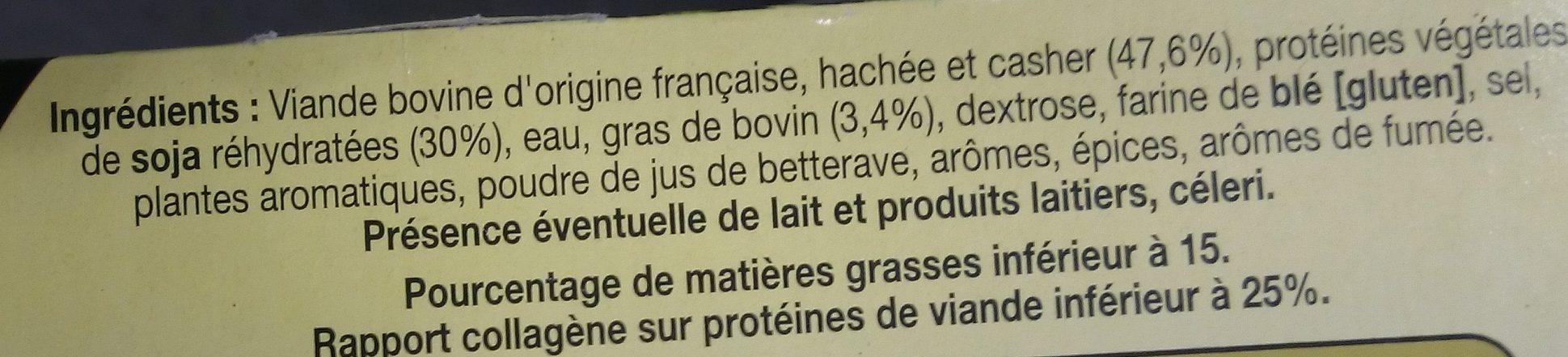 10 Burgers Casher Surgelés - Ingredienti - fr