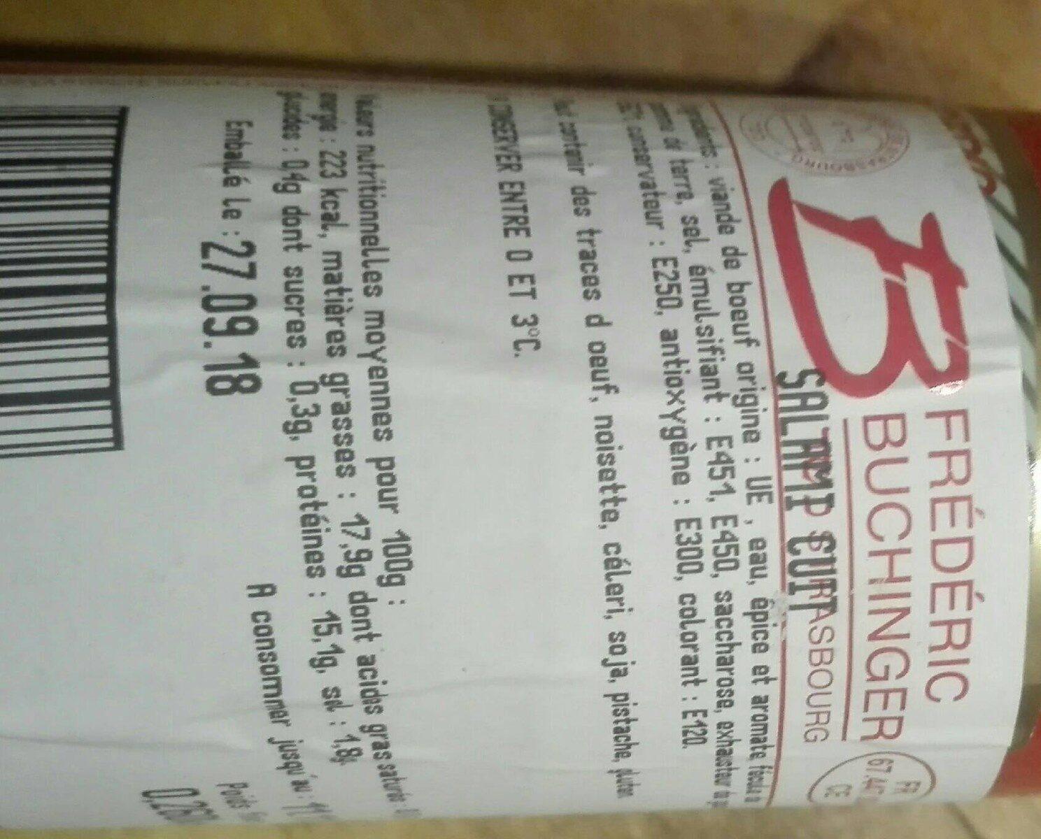 Salami Cuit - Informations nutritionnelles - fr