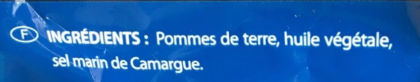 Chips light au sel marin de Camargue - Ingrediënten