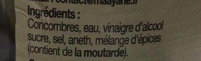 Concombres Polonais Aigres-Doux - Ingredienti - fr