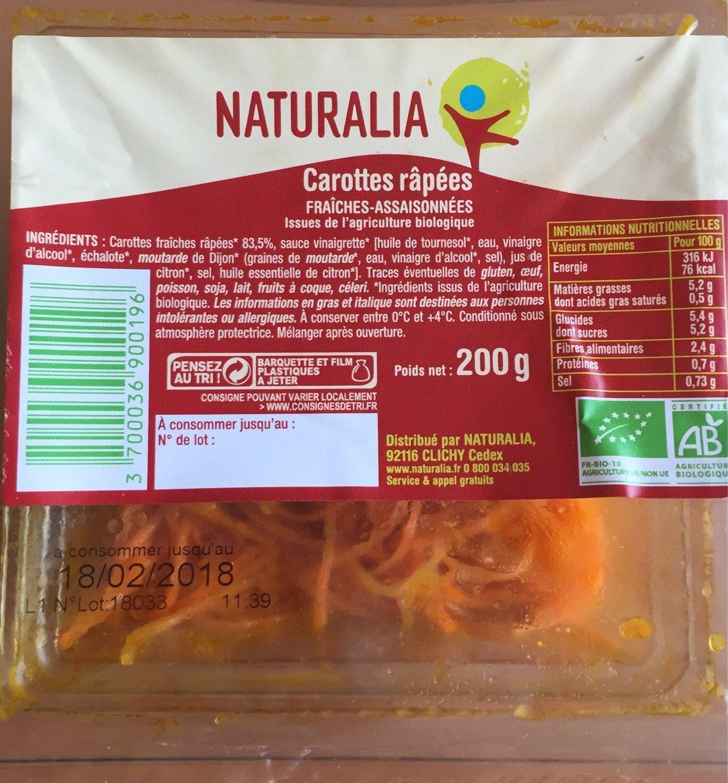 Carottes Râpées - Product - fr