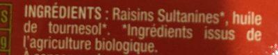 Raisins secs - Ingrédients