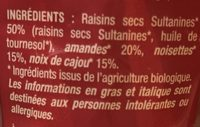 Mélange de fruits secs - Ingrediënten