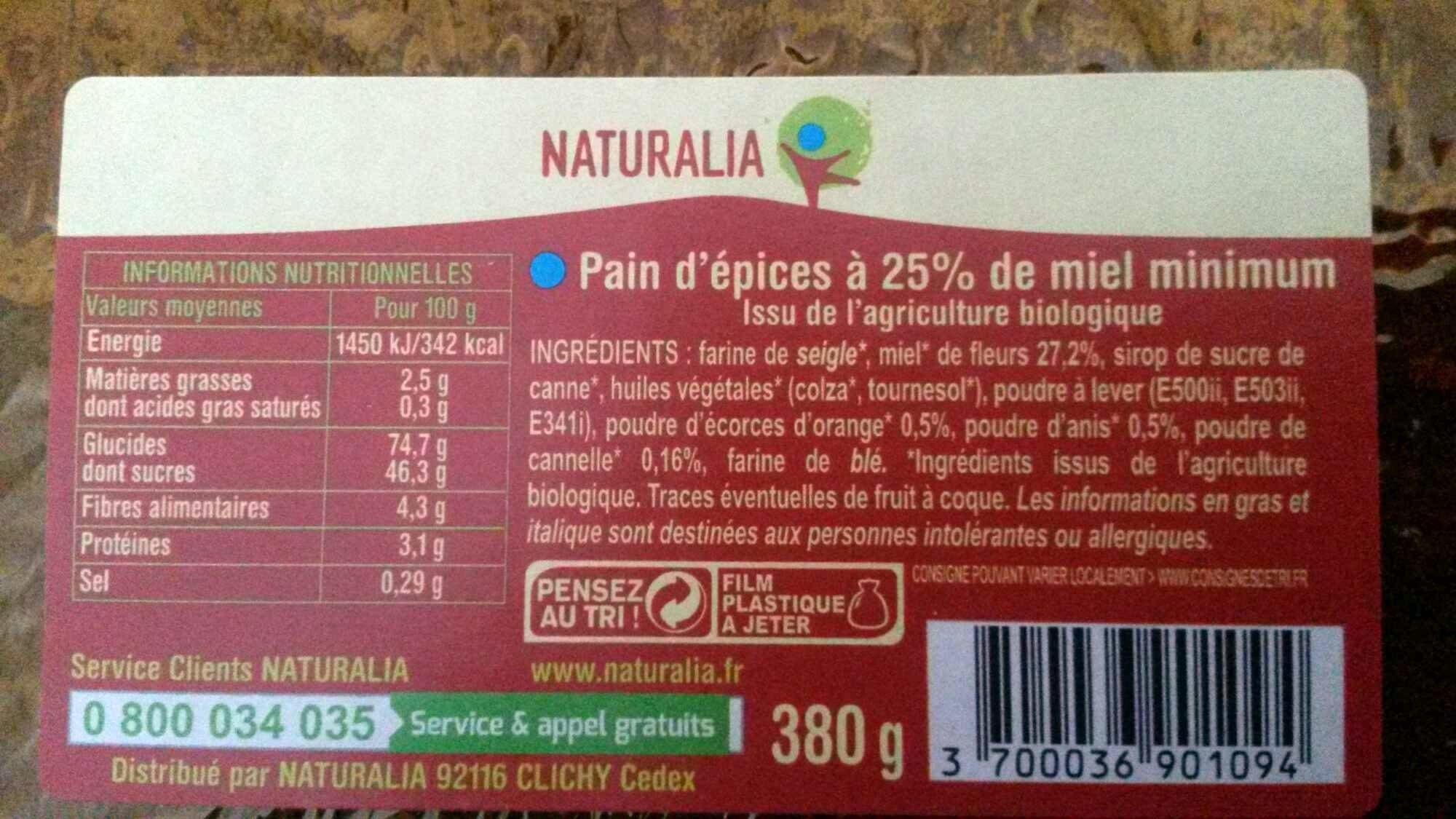 Pain d'épices à 25% de miel minimum - Product