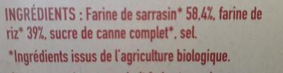 Tartines craquantes au sarrasin - Ingrédients - fr