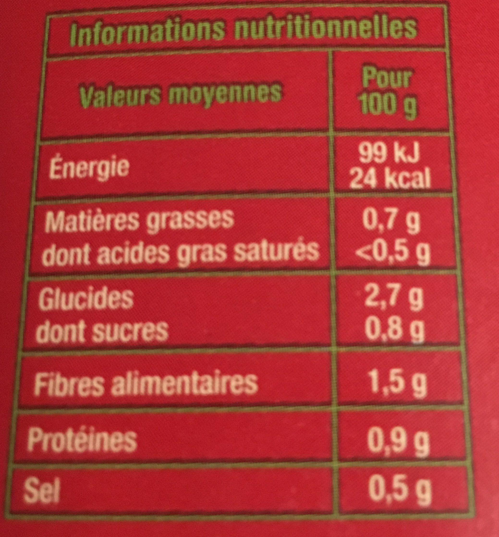 Velouté de légumes variés - Ingrédients - fr