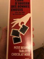 Petit beurre 48% de chocolat noir - Produit - fr
