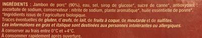Jambon Cuit - Ingredients
