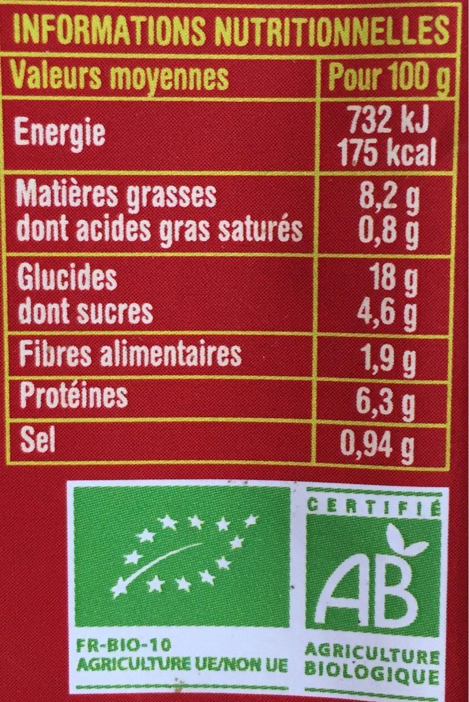 Salade Lentille Corail aux raisins secs - Voedingswaarden