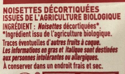 Noisettes - Ingrédients - fr
