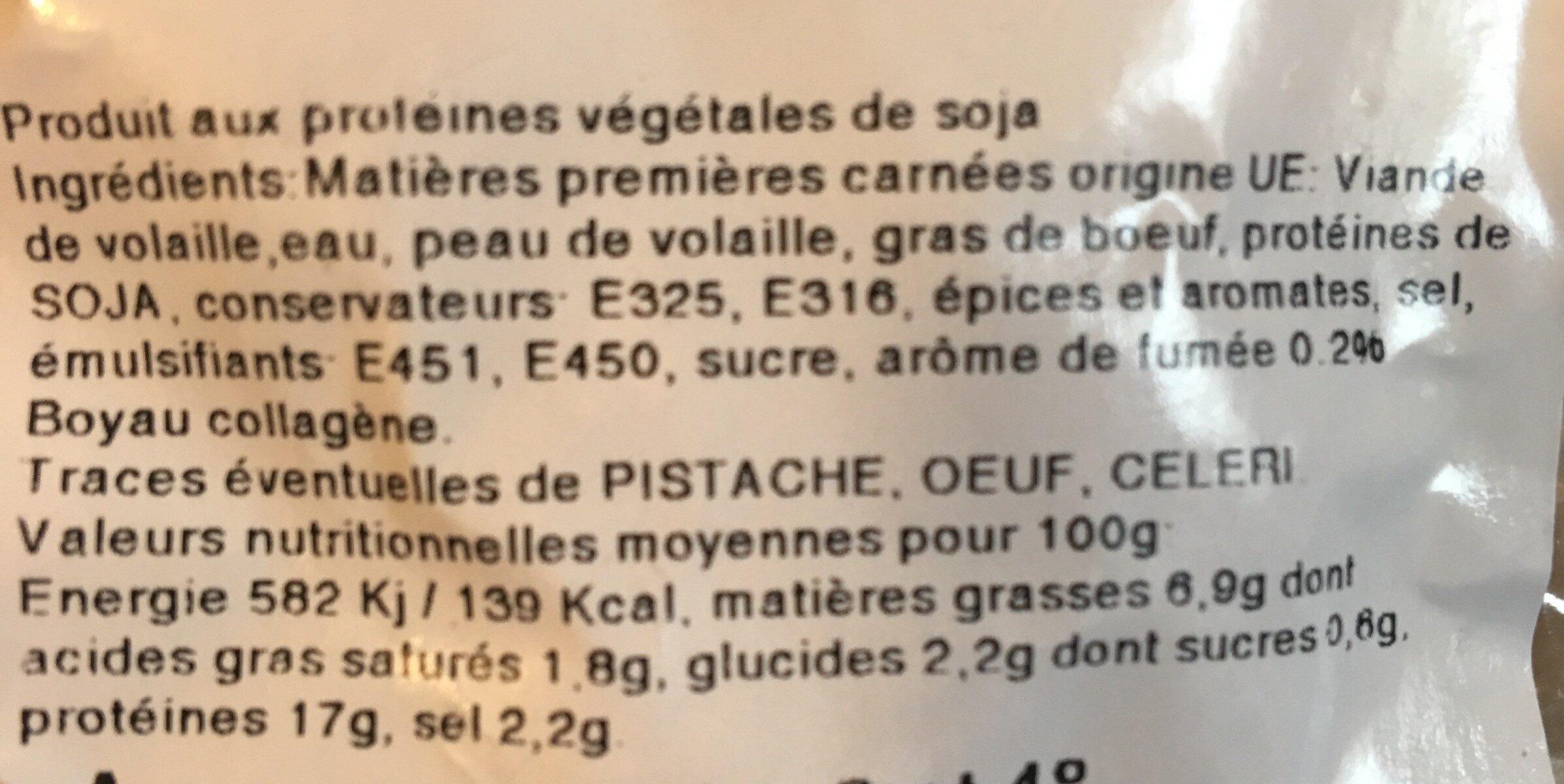 Saucisses cocktail gout fumé - Ingrédients - fr