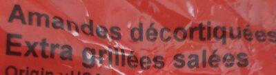 Amandes décortiquées extra grillées salées - Ingredients - fr