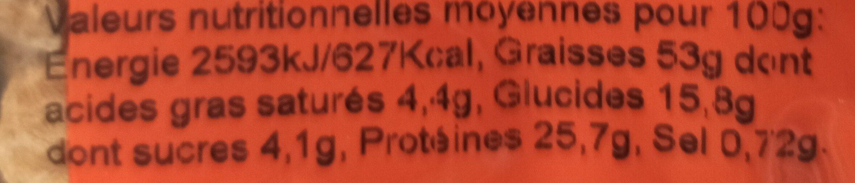 Amandes décortiquées extra grillées salées - Nutrition facts - fr