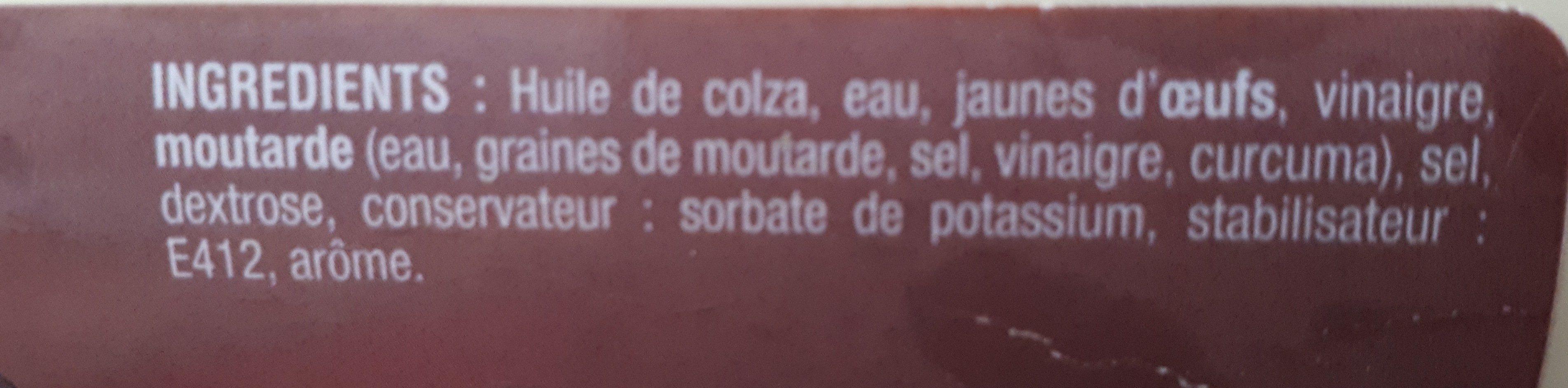 Sauce Mayonnaise Sofram 500 ML X 12 - Ingrédients - fr