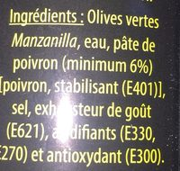 Olives veertes farcies - Ingredients - fr